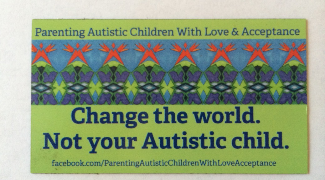 Image courtesy of the fabulous organization, Parenting Autistic Children with Love and Acceptance (PACLA)